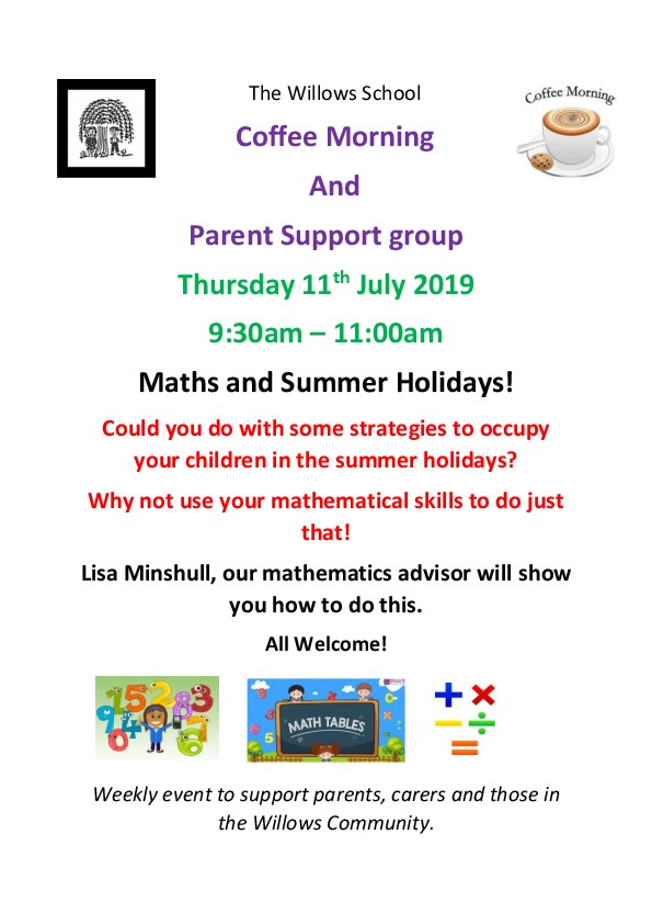 Coffee morning poster maths 11.7.19